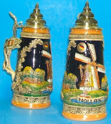 Holland Dutch Windmill German Beer Stein  .5L
